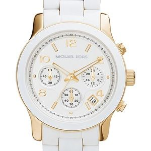 Michael Kors Chronograph White Stainless Watch